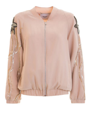 Blugirl: bombers - Embroidered sleeves bomber