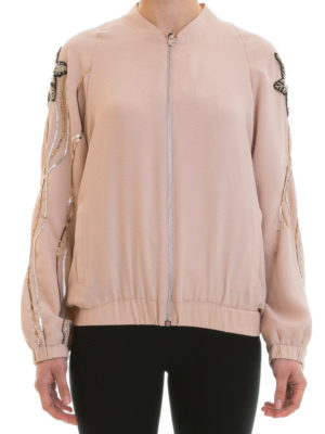 Blugirl: bombers online - Embroidered sleeves bomber