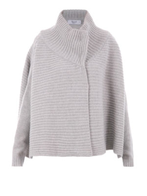 Blugirl: cardigans - Cape style ribbed over cardigan
