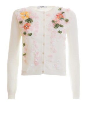 Blugirl: cardigans - Embroidered cotton cardigan