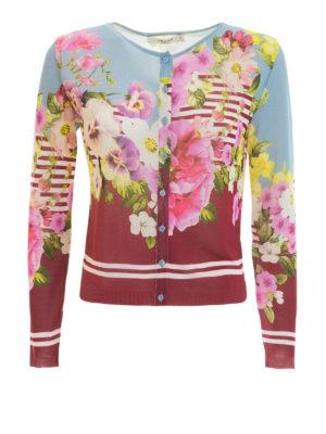 Blugirl: cardigans - Floral patterned cardigan