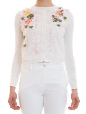 Blugirl: cardigans online - Embroidered cotton cardigan