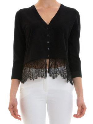 Blugirl: cardigans online - Lace bottom cardigan