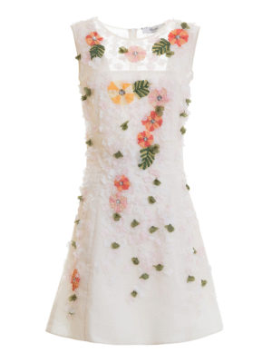 Blugirl: cocktail dresses - Floral embroideries tulle dress