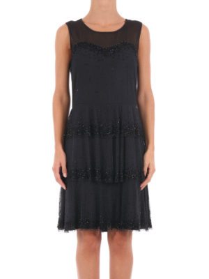 Blugirl: cocktail dresses online - Embellished sheer flounce dress