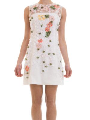 Blugirl: cocktail dresses online - Floral embroideries tulle dress