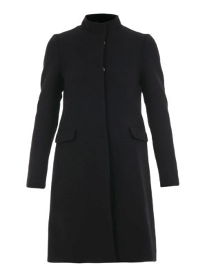Blugirl: knee length coats - Guru collar wool blend coat