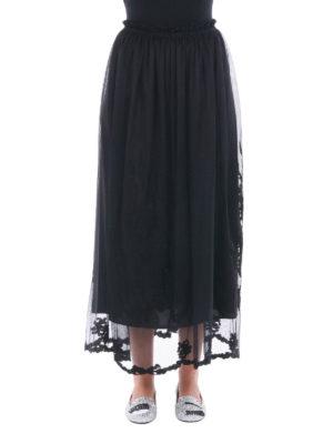 Blugirl: Knee length skirts & Midi online - Embroidered tulle midi skirt