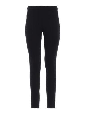 BLUGIRL: leggings - Leggings neri in jersey ed ecopelle
