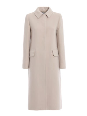BLUGIRL: cappotti lunghi - Cappotto in panno di misto lana