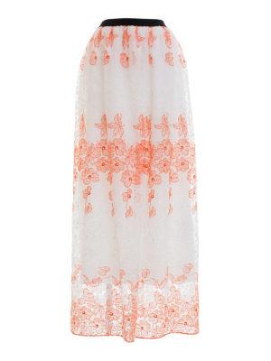 Blugirl: Long skirts - Bicolour lace long skirt