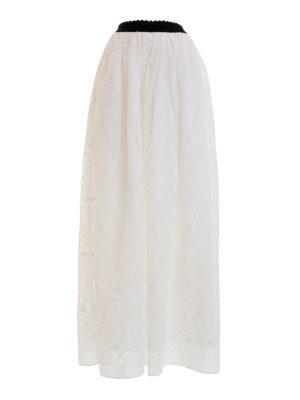Blugirl: Long skirts - Broderie anglaise long skirt