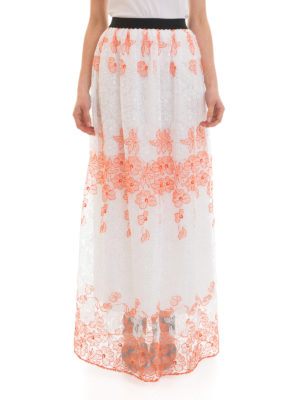 Blugirl: Long skirts online - Bicolour lace long skirt
