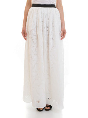 Blugirl: Long skirts online - Broderie anglaise long skirt