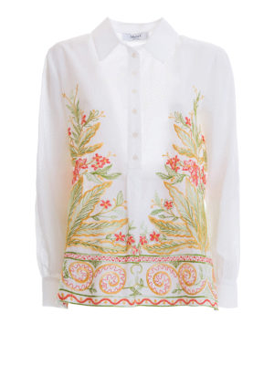 Blugirl: shirts - Floral embroidery classic shirt