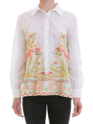 Blugirl: shirts online - Floral embroidery classic shirt