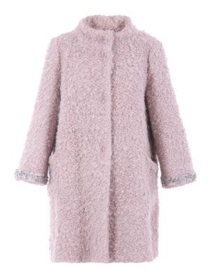 Blugirl: short coats - Embellished bouclé A-line coat