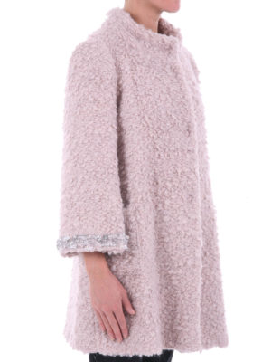 Blugirl: short coats online - Embellished bouclé A-line coat