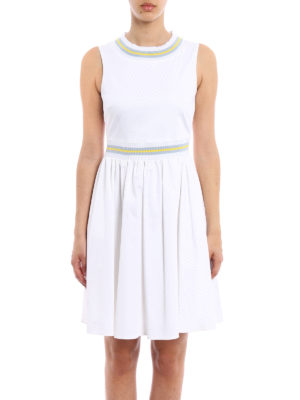Blugirl: short dresses online - Cotton sleeveless dress