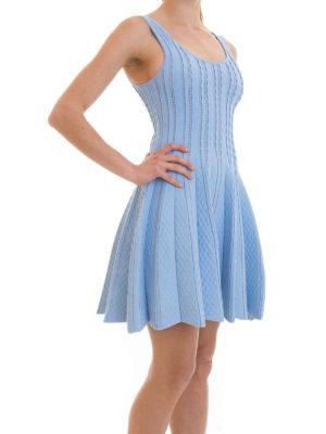 Blugirl: short dresses online - Textured jersey flared dress
