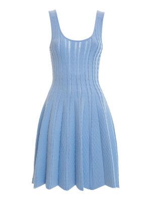 Blugirl: short dresses - Textured jersey flared dress