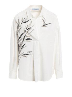 Blumarine: blouses - Embellished cotton blouse