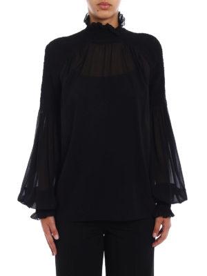 Blumarine: blouses online - Sheer silk georgette blouse