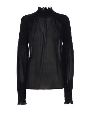 Blumarine: blouses - Sheer silk georgette blouse