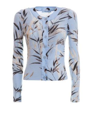 Blumarine: cardigans - Bamboo patterned cardigan