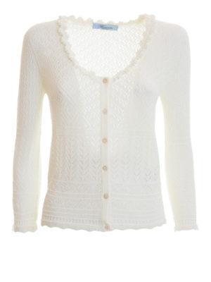 Blumarine: cardigans - Geometric patterned cardigan