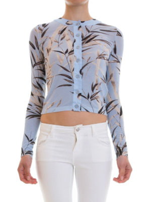 Blumarine: cardigans online - Bamboo patterned cardigan