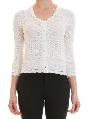 Blumarine: cardigans online - Geometric patterned cardigan