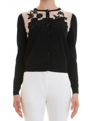 Blumarine: cardigans online - Lace panelled cardigan