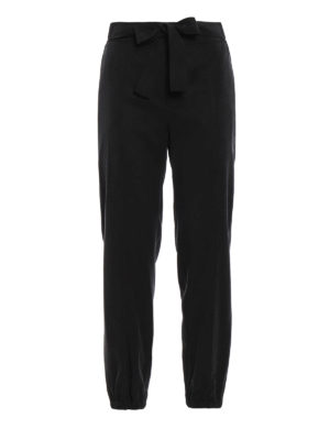 Blumarine: casual trousers - Bow detailed trousers