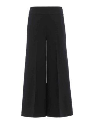 Blumarine: casual trousers - Cady wide trousers