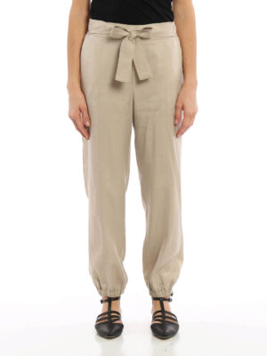 Blumarine: casual trousers online - Bow detailed trousers