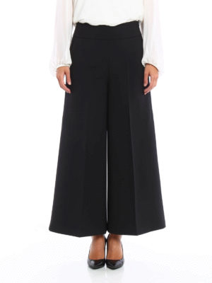 Blumarine: casual trousers online - Cady wide trousers