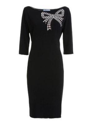 Blumarine: cocktail dresses - Bow detailed viscose dress