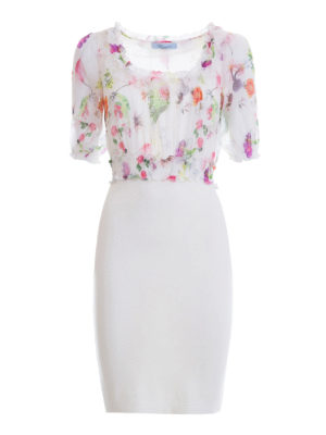 Blumarine: cocktail dresses - Feminine silk bodice sheath dress