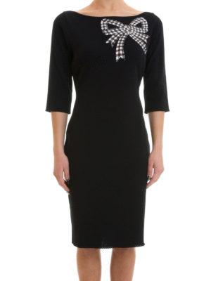 Blumarine: cocktail dresses online - Bow detailed viscose dress