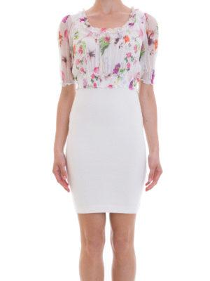 Blumarine: cocktail dresses online - Feminine silk bodice sheath dress