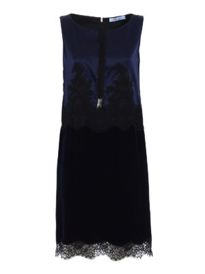 Blumarine: evening dresses - Silk and velvet romantic dress