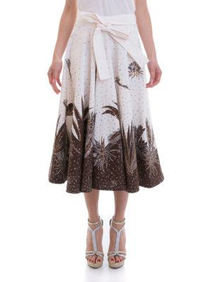 Blumarine: Knee length skirts & Midi online - Batik print cotton full skirt