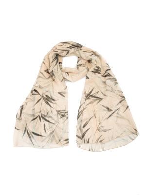 Blumarine: scarves - Bamboo print silk scarf