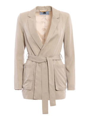 Blumarine: short coats - Lightweight blazer style coat