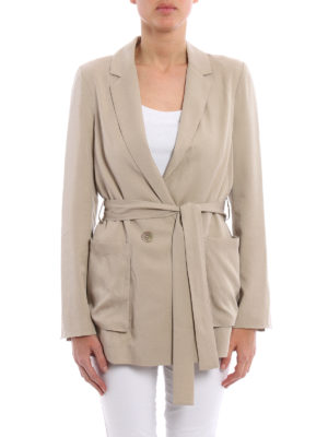 Blumarine: short coats online - Lightweight blazer style coat