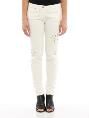 Blumarine: skinny jeans online - Embroidered skinny jeans