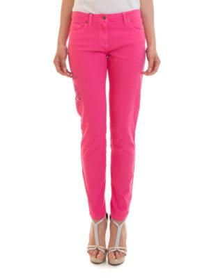 Blumarine: skinny jeans online - Floral embroidered jeans