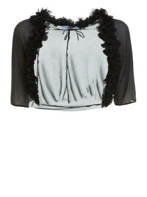 Blumarine: Tailored & Dinner - Sheer silk sleeved shawl