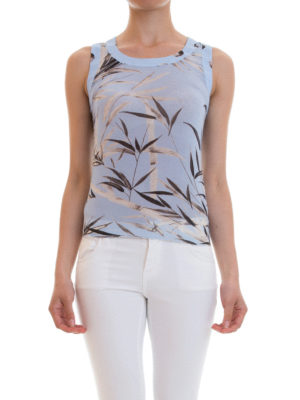 Blumarine: Tops & Tank tops online - Bamboo patterned tank top